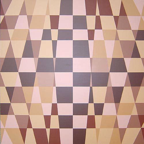 Original Beige And Tan Modern Geometric Painting