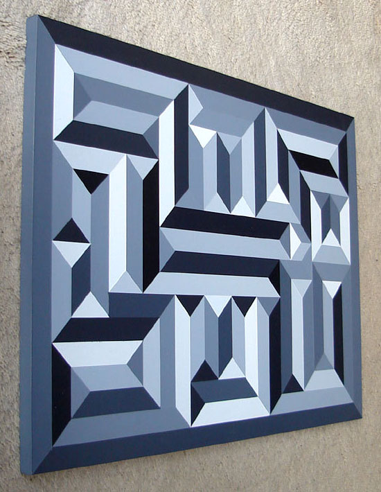 Shaun White >> Black and White Geometric Maze Painting