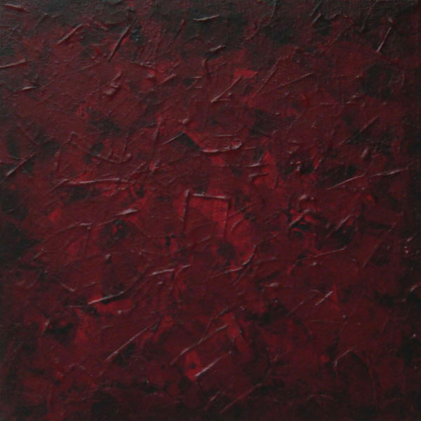 Deep reds wash textured abstract painting for Dark red paintings