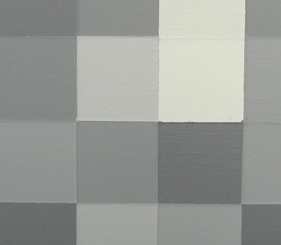 Original Modern Light Greyscale Squares Painting