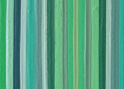 Original Green Modern Stripes Painting