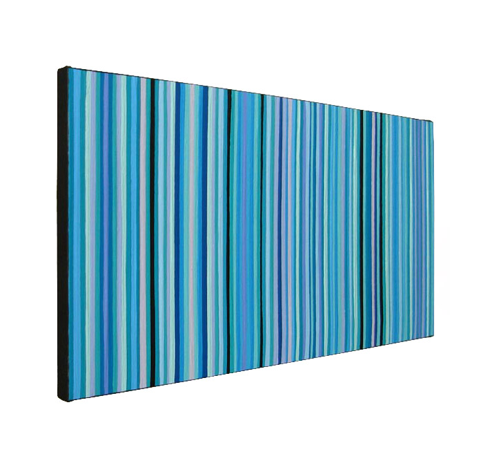 Blue And Green Shades Modern Stripes Painting