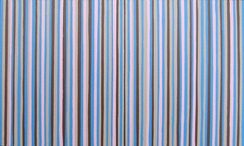 Blue, Brown & Pink Modern Stripes Painting