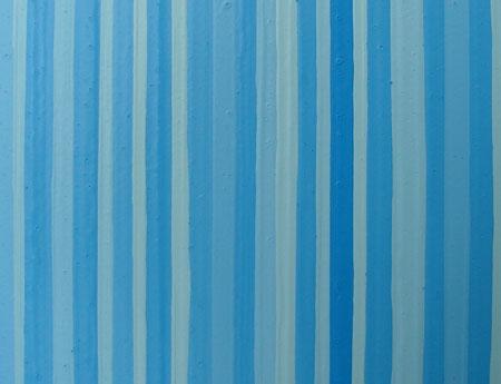 Modern Light Blue Striped Painting