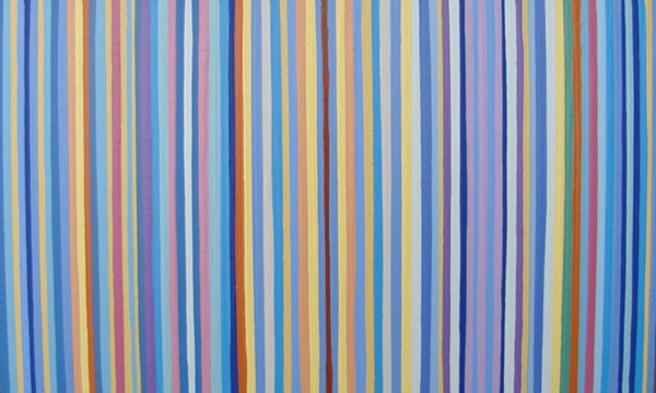 Blue Amp Multi Colored Striped Painting