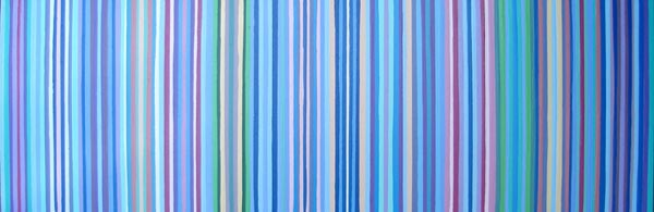 Three Feet Multi-Colored Striped Painting