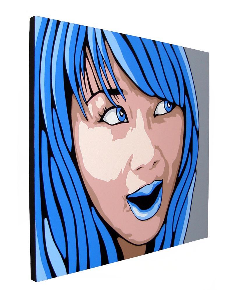 Blue Eyes and Blue Hair Art Portrait