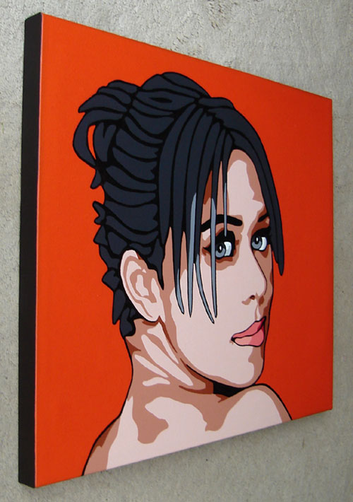 Original Pop Art Painting Modern Portrait