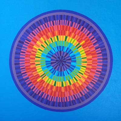 Rainbow Circle Painting