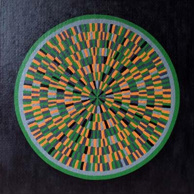 Orange Green Circle Painting