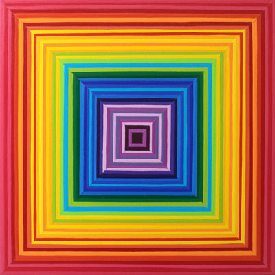 Multicolor Square Painting