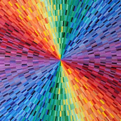 Rainbow Burst Painting