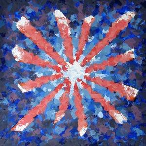 Blue and Orange Pinwheel