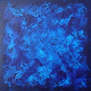 Deep Blue Wash Painting
