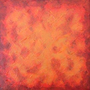 Burnt Orange Wash Painting