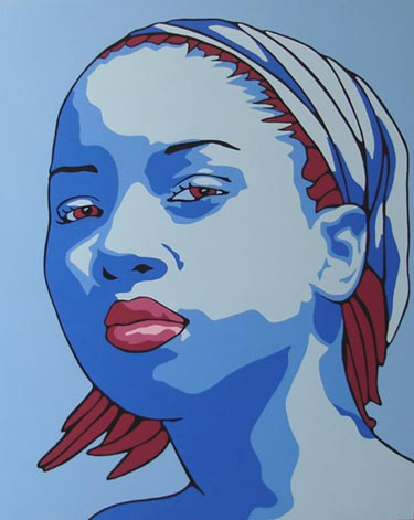 portrait painting. Pop Art Portrait Painting