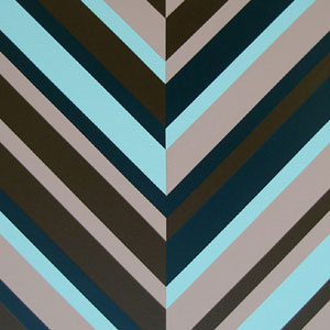 Green and Brown Chevron Art
