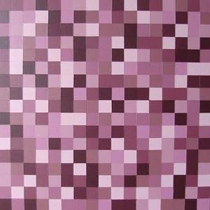 Redish Brown Squares Painting