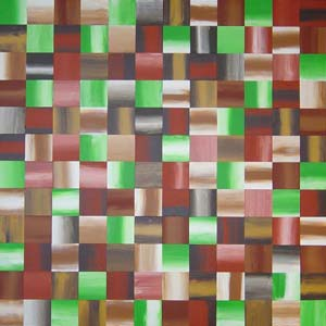 Earthtone Abstract Squares Painting