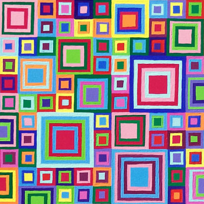 Multicolor Jeweled Squares Painting