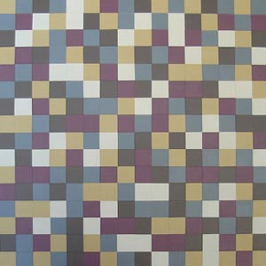 Plum and Mustard Squares Painting