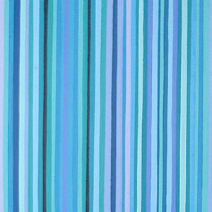 Shades of Blue and Green Stripe Painting