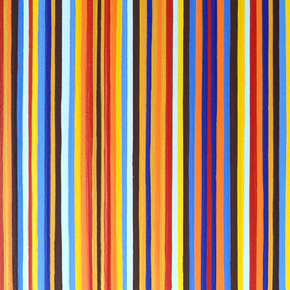 Orange And Blue Stripes Painting