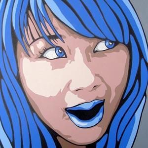 Blue Hair Portrait