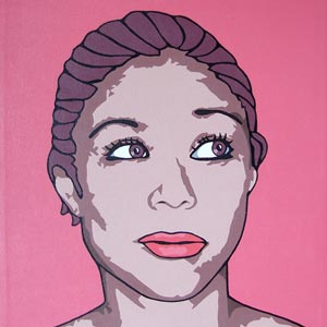 Looking Left Portrait Painting