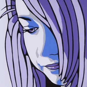 Megan Purple Portrait Painting