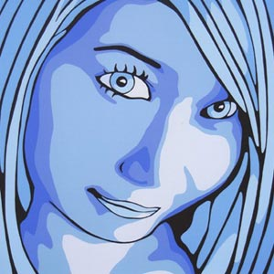 Shades of Blue Portrait